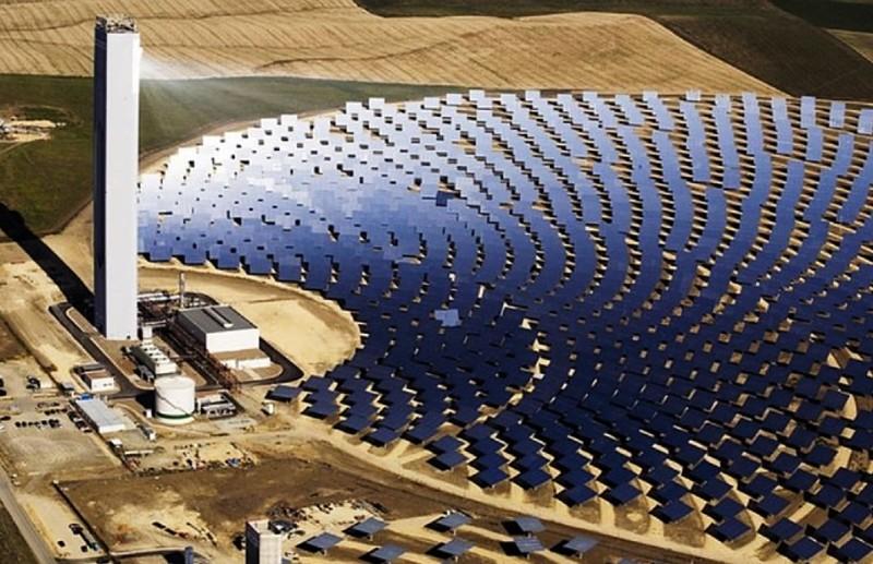 captación energía solar central térmica