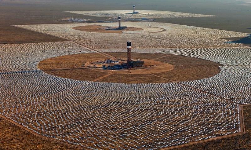 Plantas energía solar en USA Ivanpah